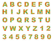 Kleurrijke Engelse brieven a aan z Royalty-vrije Stock Foto