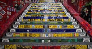 Kleurrijke Escadaria Selaron in Rio de Janeiro Stock Foto's