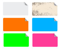Kleurrijke etiketten Royalty-vrije Stock Foto