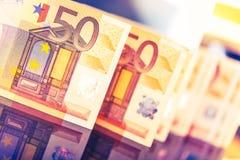 Kleurrijke euro bankbiljetten Royalty-vrije Stock Afbeelding