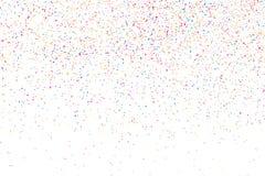Kleurrijke explosie van confettien Gekleurde korrelige textuurvector Stock Afbeelding