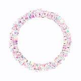 Kleurrijke explosie van confettien Korrelige abstracte kleurrijke textuur Stock Foto's