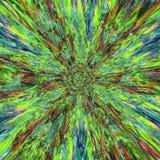 Kleurrijke explosieachtergrond van lichtgevende lijnen en grutten, splinters royalty-vrije illustratie