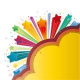 kleurrijke explosiester Royalty-vrije Stock Afbeelding