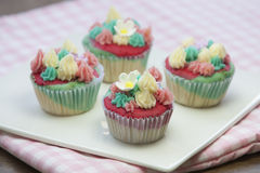 Kleurrijke fantasie cupcake Stock Afbeelding