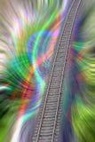 Kleurrijke fantasiespoorweg Stock Fotografie