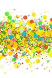 Kleurrijke feestelijke confettiencirkels op witte achtergrond Royalty-vrije Stock Afbeelding
