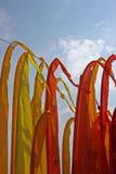 Kleurrijke strandvlaggen Stock Afbeelding