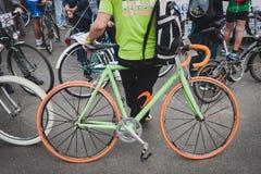 Kleurrijke fiets in Cyclopride 2014 in Milaan, Italië Royalty-vrije Stock Afbeelding