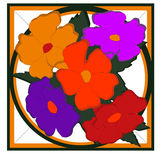 Figural bloemen Stock Afbeelding