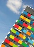 Kleurrijke flats stock foto's