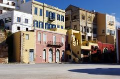 Kleurrijke flats in Europa royalty-vrije stock foto