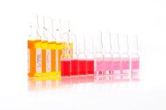 Kleurrijke flesjes royalty-vrije stock afbeelding