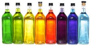 Kleurrijke flessen Royalty-vrije Stock Afbeelding