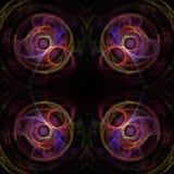 Kleurrijke fractal achtergrond Royalty-vrije Stock Afbeelding