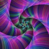 Kleurrijke fractal spiraalvormige tentakels Royalty-vrije Stock Afbeeldingen