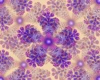 Kleurrijke fractal van bloemmandala ster Stock Foto