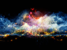 Kleurrijke fractal wolken Royalty-vrije Stock Foto