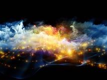 Kleurrijke fractal wolken Royalty-vrije Stock Afbeelding