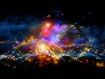 Kleurrijke fractal wolken Royalty-vrije Stock Fotografie