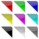 Kleurrijke frame hoeken royalty-vrije illustratie