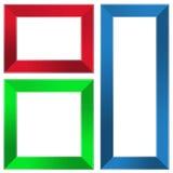 Kleurrijke frames royalty-vrije stock foto