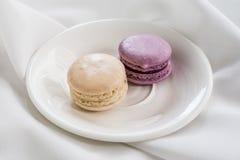 Kleurrijke Franse macarons Royalty-vrije Stock Foto's
