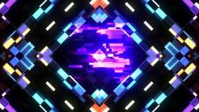 Kleurrijke futuristische laserglitch aftelprocedure van 5 tot 1 interferentie achtergrondaantallen van 10 tot 1 nieuwe dynamische stock illustratie