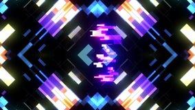 Kleurrijke futuristische laserglitch aftelprocedure van 3 tot 1 interferentie achtergrondaantallen van 10 tot 1 nieuwe dynamische stock illustratie