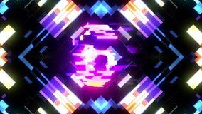 Kleurrijke futuristische laserglitch aftelprocedure van 10 tot 1 interferentie achtergrondaantallen van 10 tot 1 nieuwe dynamisch stock illustratie