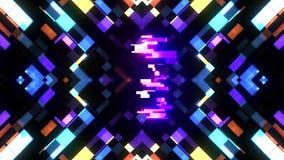 Kleurrijke futuristische laserglitch aftelprocedure van 3 tot 1 interferentie achtergrondaantallen van 10 tot 1 nieuwe dynamische royalty-vrije illustratie