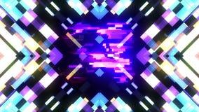Kleurrijke futuristische laserglitch aftelprocedure van 5 tot 1 interferentie achtergrondaantallen van 10 tot 1 nieuwe dynamische vector illustratie
