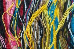 Kleurrijke garenachtergrond Stock Afbeelding