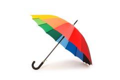 Kleurrijke geïsoleerde¯ paraplu stock afbeeldingen