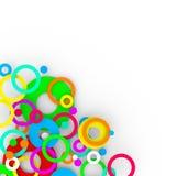 Kleurrijke geïsoleerde moderne achtergrond Stock Foto