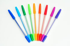 Kleurrijke geïsoleerde pennen Royalty-vrije Stock Afbeeldingen