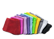 Kleurrijke geïsoleerde sokken Royalty-vrije Stock Foto's