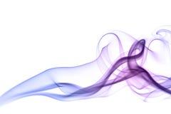 Kleurrijke geïsoleerdee rook stock foto's