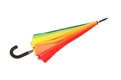 Kleurrijke geïsoleerdeg paraplu royalty-vrije stock afbeeldingen