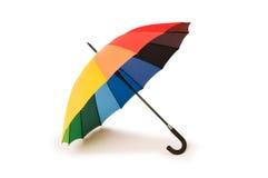 Kleurrijke geïsoleerdek paraplu Royalty-vrije Stock Foto