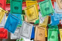 Kleurrijke gebedvlaggen Royalty-vrije Stock Afbeeldingen