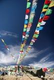 Kleurrijke gebedvlaggen stock afbeelding