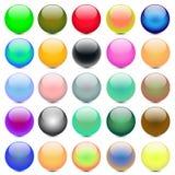 Kleurrijke gebieden stock illustratie