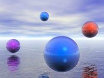 Kleurrijke gebieden Oceaanoppervlakte vector illustratie