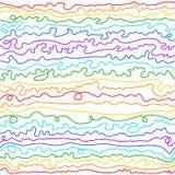 Kleurrijke gebogen lijnen Stock Foto