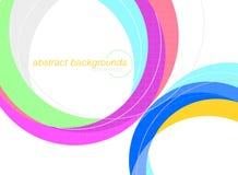 Kleurrijke gebogen scène op een wit Stock Afbeelding