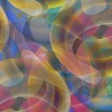 Kleurrijke gebogen vormen op de zwarte achtergrond Royalty-vrije Stock Fotografie