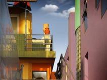Kleurrijke gebouwen Royalty-vrije Stock Foto's