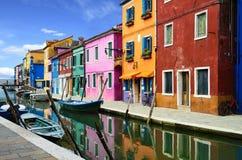 Het dorp van Burano dichtbij Venise Royalty-vrije Stock Foto's