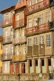 Kleurrijke gebouwen in de oude stad. Porto. Portugal Stock Afbeeldingen
